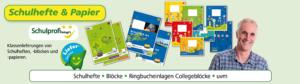 Schulhefte und Papierprodukte